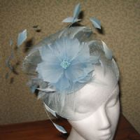 Blue Crin Mother of the Bride Fascinator - sn797